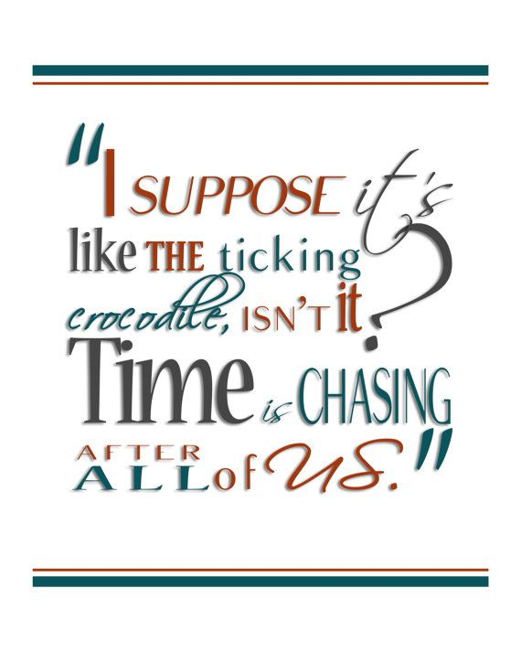 Digital Print JM Barrie's Peter Pan Time Quote by HaveYouBeenThere, $18.00