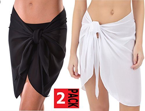 Special Offer: $24.99 amazon.com *** Pack of 2 Sarongs ***** Fabric & Care •Hand wash cold. •Hang to dry. •100% Polyester. •Lightweight chiffon fabric. Details Sarong style short cover-up. Luxurious chiffon fabric. Sizing & Fit 66″ X 22″ One size fits most.** Pack of 2...