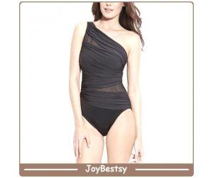 2015 New Sexy Swimsuits Black One Piece Swimwear