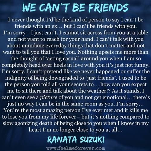 I Love Him But I Can T Tell Him Quotes: WE CAN'T BE FRIENDS