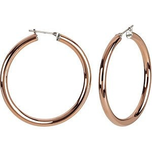 Amazon.com: AmalfiTM Rose Gold Immersion Plated Stainless Steel Hoop Earrings: Jewelry
