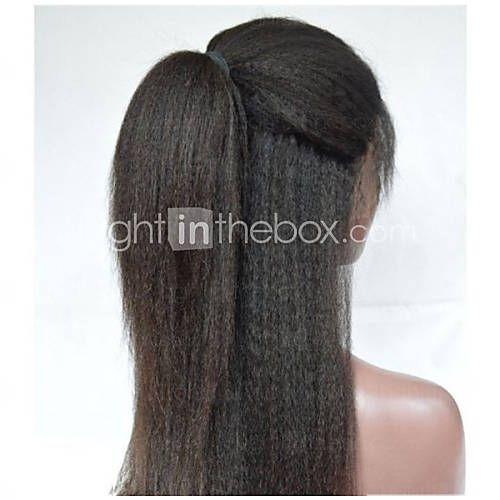 2016 premier 8a chaud cheveux remy indiens avant de dentelle droite ou pleine dentelle perruques crépus souples pour les femmes noires t de 4814632 2016 à €80.36