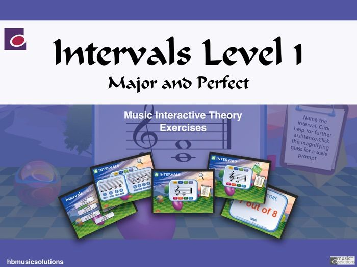 Intervals In Music - Level 1 Interactive Theory Activity.