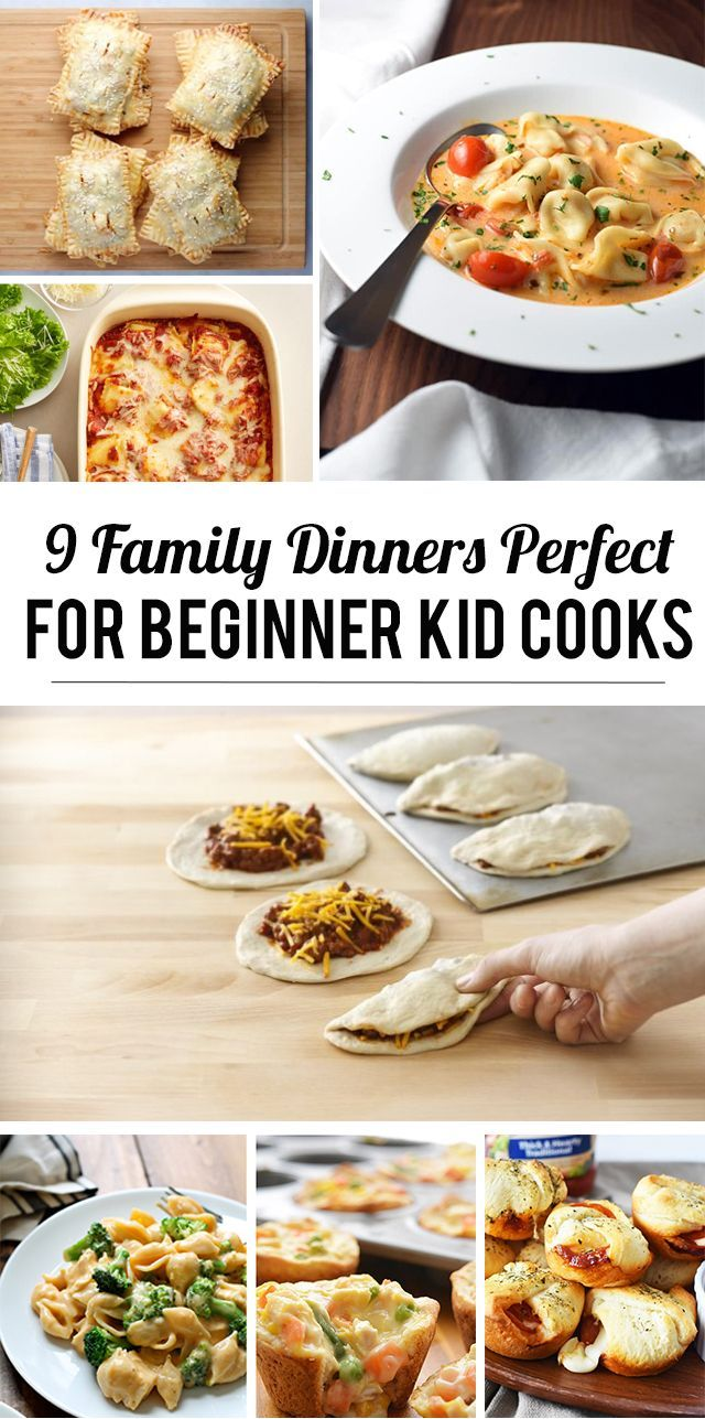 9 Family Dinners Perfect For Beginning Kid Cooks Modern Parents Messy Kids Kids Cooking Recipes Family Dinner Cooking Dinner