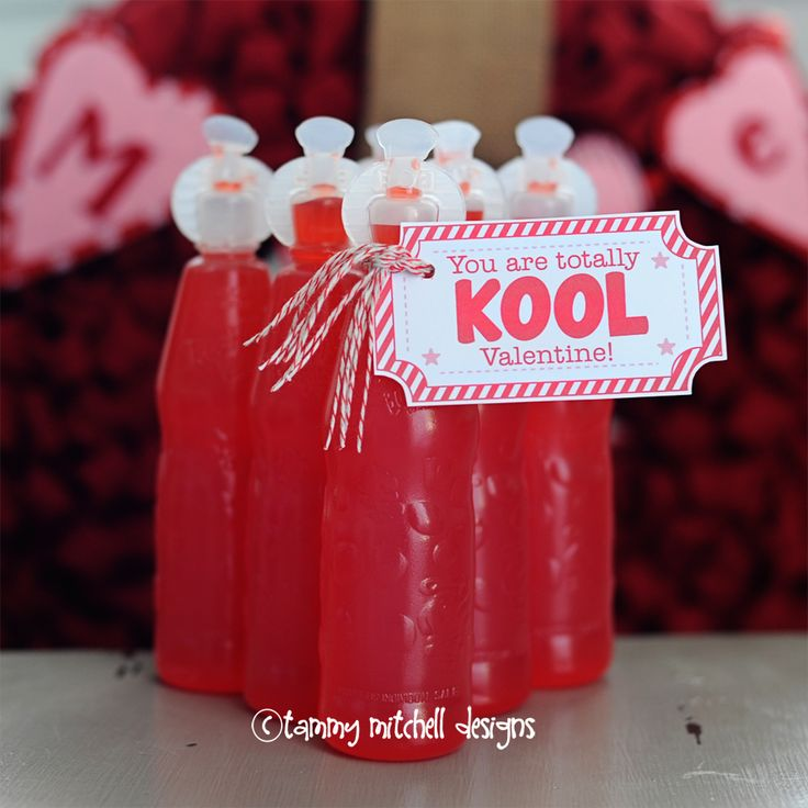 FREEBIE: You are Totally Kool Valentine Handmade valentine and free printable valentine card tag