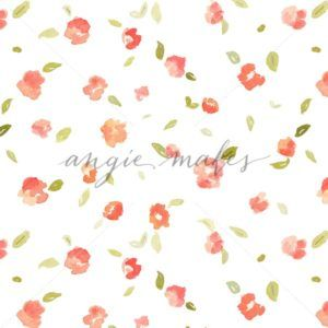 Shabby Chic Watercolor Roses Background