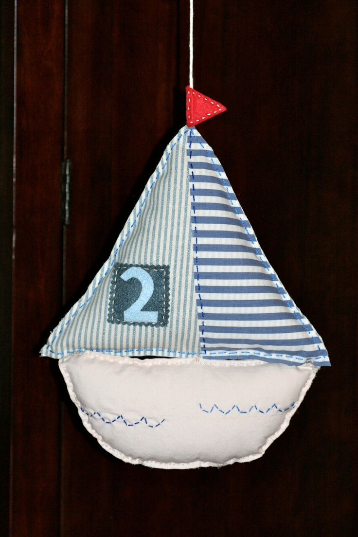Nautical Row Your Boat Inspired Sailboat Nursery Mobile - Jesters Realm
