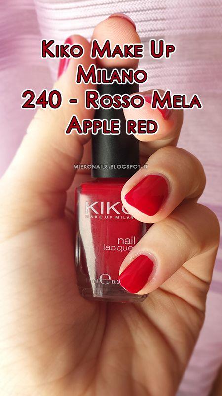 http://miekonails.blogspot.it/2014/08/color-day-kiko-240-rosso-mela-apple-red.html