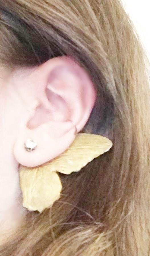 """Ear cuff earring ,,Butterfly""""... http://pl.dawanda.com/shop/alices-idea www.alicesidea.pl #earrings ."""