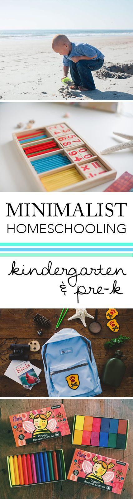 Minimalist Homeschool Pre-K + Kindergarten | Salt + Sea | Coastal Bohemian Homeschool Lifestyle Blog
