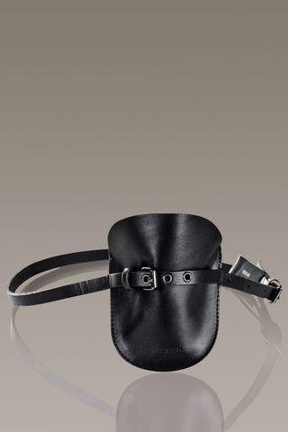 RUDSAK 'Samson' Pouchette Leather Belt, Black