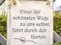 Garten Schild mit Spruch aus Beton