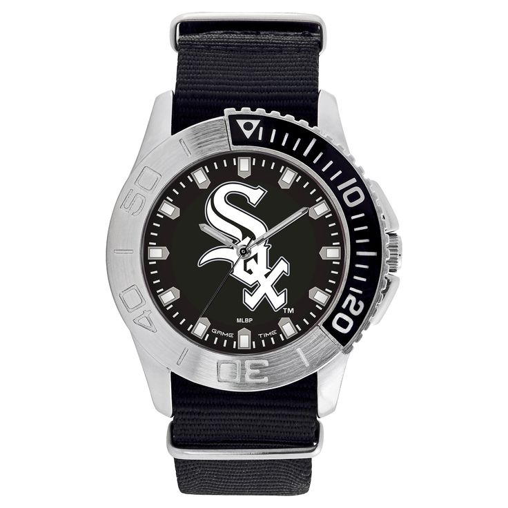 Men's Game Time MLB Starter Sports Watch - Black - Chicago White Sox