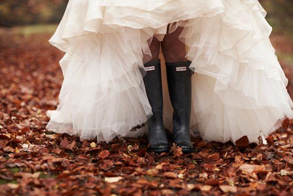 Veel meer herfst kun je niet hebben op je bruiloft haha