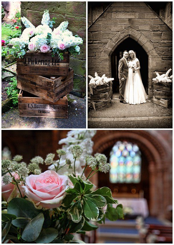 62 best church flowers decorations images on pinterest country garden marquee wedding blush pink roses swings hanging bottles junglespirit Image collections