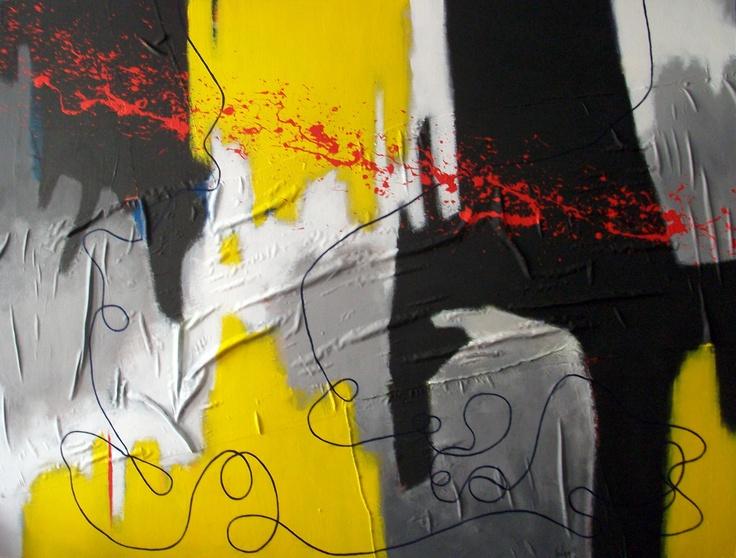 Chema Senra | Too Much Rope (2012) #art #abstractart #painting