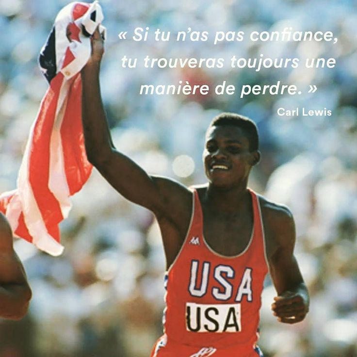 Carl Lewis ''Si tu n'as pas confiance, tu trouveras toujours une manière de perdre'' 👍😯 #frequencerunning #InstaRunners #running #runners #run #athletisme #application #trainhardruneasy #marathonNantes #carllewis #motivation #race #perform