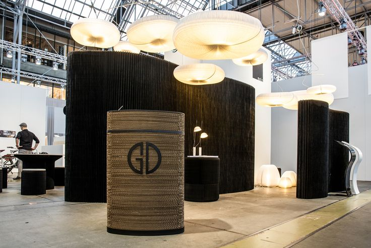Our Impact lectern - know with logo. cloud and urchin lamps, cantilever table, softseating and softwalls from @molostudio. Exhibition furniture, messe møbler, exhibition walls, udstillings vægge, messe stande, exhibition stands