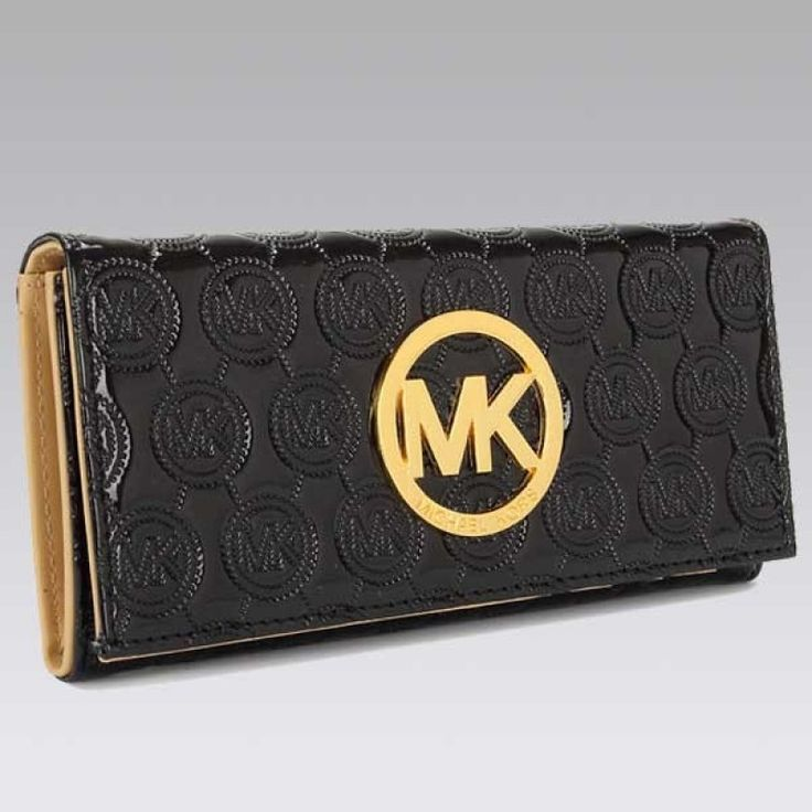 MICHAEL Michael Kors Jet Set Continental Bright Black Wallet