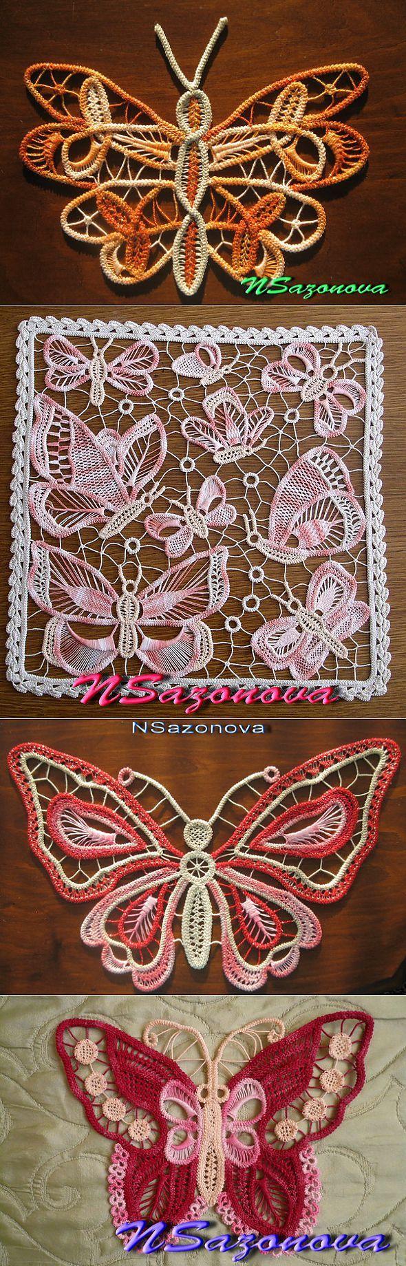 Мои румынские бабочки исхемы к ним. | Вязание крючком | Постила