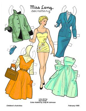 Miss Lang, secretary by Davi Botts paper doll
