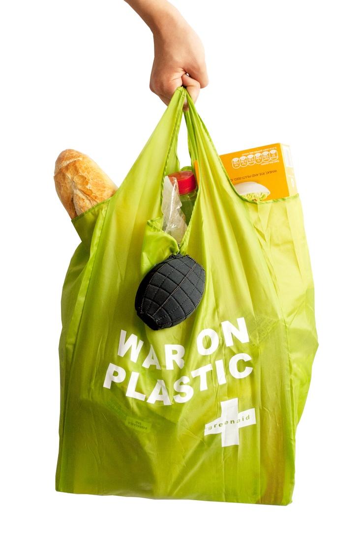 War on Plastic - reusable shopping bag