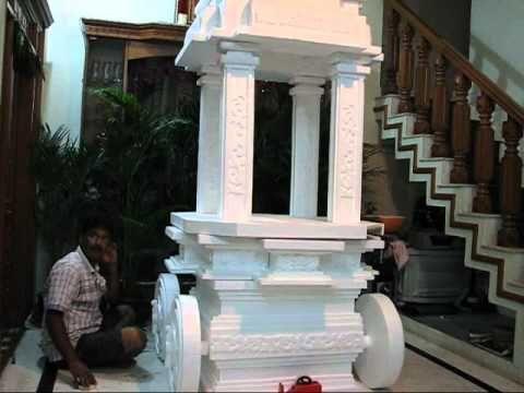 Thermocol Chariot for Ganesha