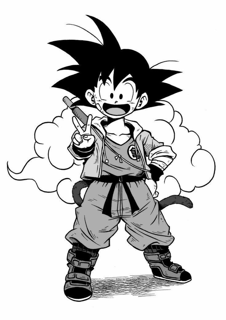 Pin Di Dk Su Dragonๅาball Goku Ragazzini Bambini