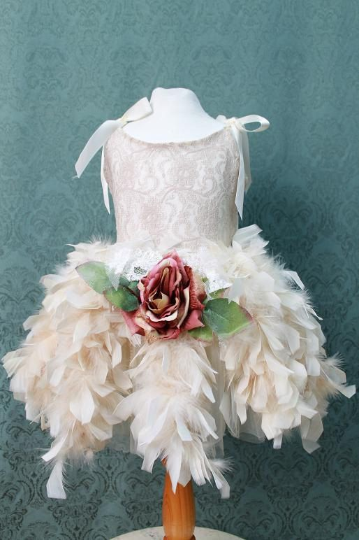 Stunning Hand Dye Feathers  and Tulle Skirt/ by ElenaCollectionUSA, $45.00