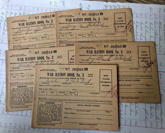 Militaria World War II WAR RATION Stamp Book No. 3 with