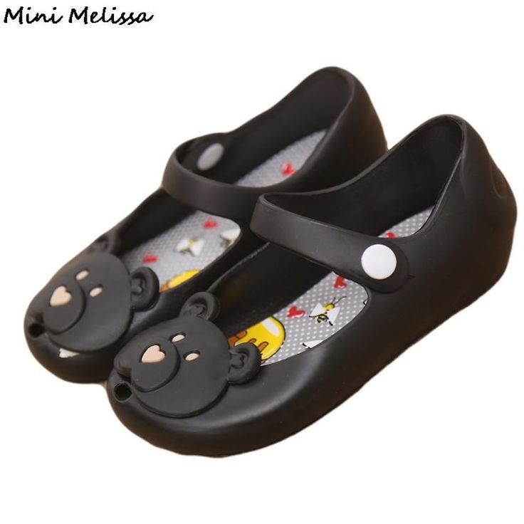 Melissa 2016 Girl Sandals Plain Baby Rain Boots Summer Jelly Toddler Kids Shoes Rainzapatos sapatos alishoppbrasil