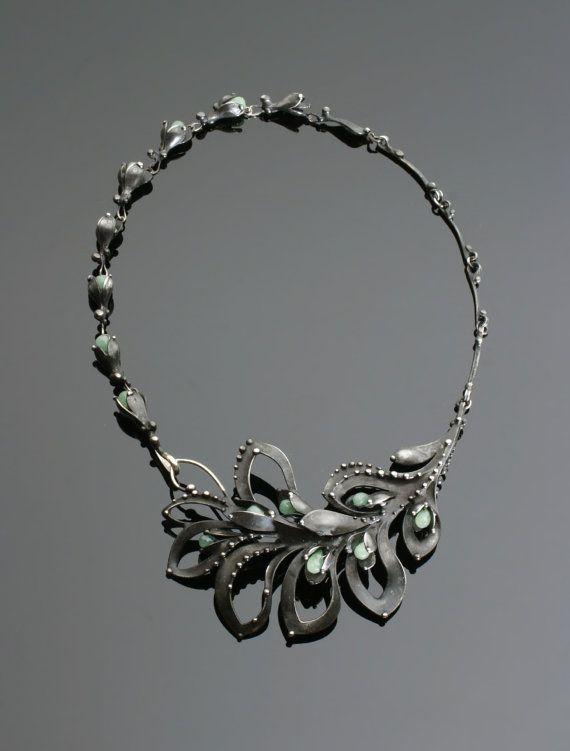 Jade Mixed Metal Necklace by OlivOva on Etsy, $695.00. Visit etsy shop gemgalmachias
