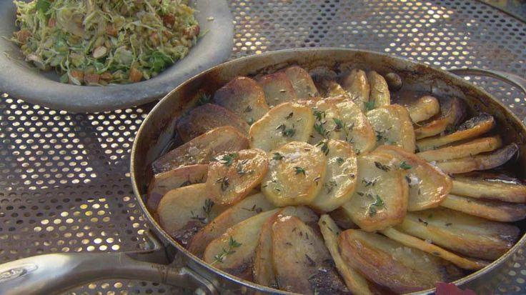 Gary Mehigan's Lamb Hot-Pot with Kidneys and Crisp Potatoes and Freekah Salad on Masterchef Australia official recipe