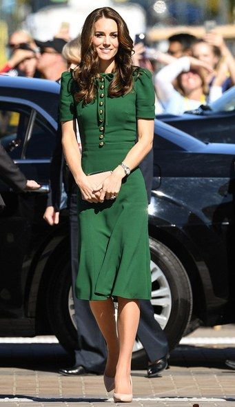 The Duchess opts for a $2,600 Dolce & Gabbana dress, for day four of the royal tour.