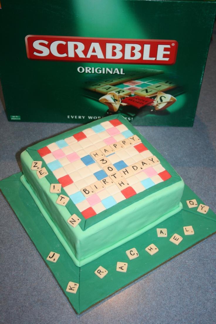 Um bolo em forma de Scrabble! *.*