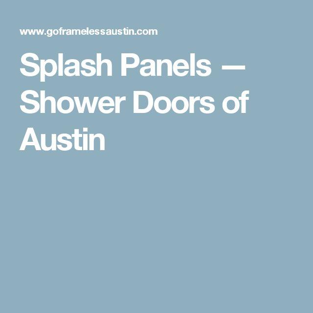 splash panels u2014 shower doors of austin