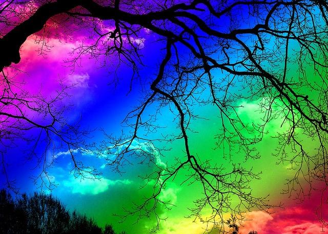 Rainbow (or as I like to call this photo: photoshooop!)