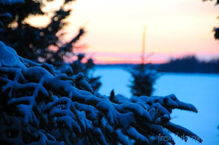 Blue Sunset at Fireside Lodge www.firesidelodge.com