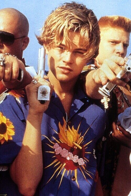 young leonardo dicaprio as romeo in romeo and juliet, capulets
