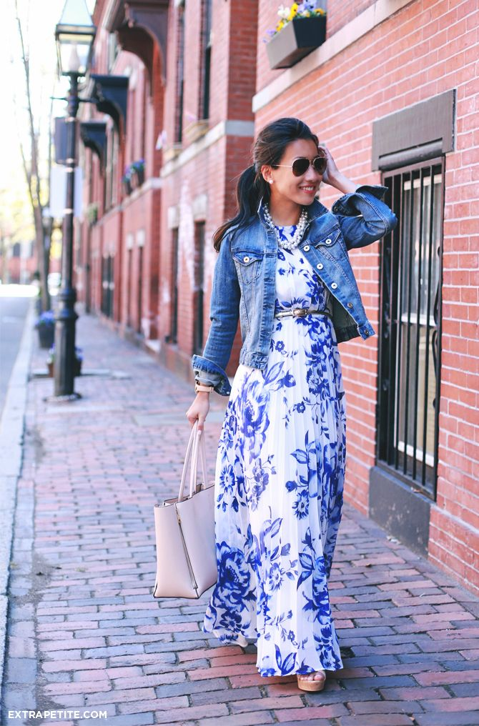 ExtraPetite.com - Maxi dress re-styled   Kate Spade metro watch for petite wrists