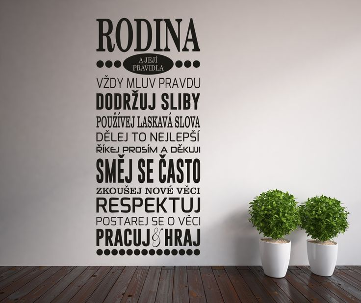 Dekorativní samolepky na zeď Rodinná pravidla - Wallvinil.cz