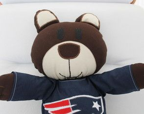 Ursinho Ted                                                   Teddy bear with New England Patriots T-shirt / NFL 100% cotton fabric, toy