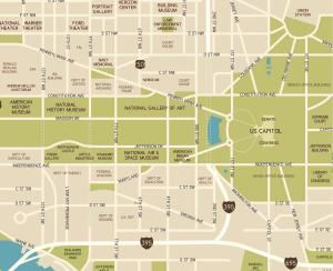 See Maps and Directions to the National Mall: Closeup Version - East of 12th Street, Washington DC