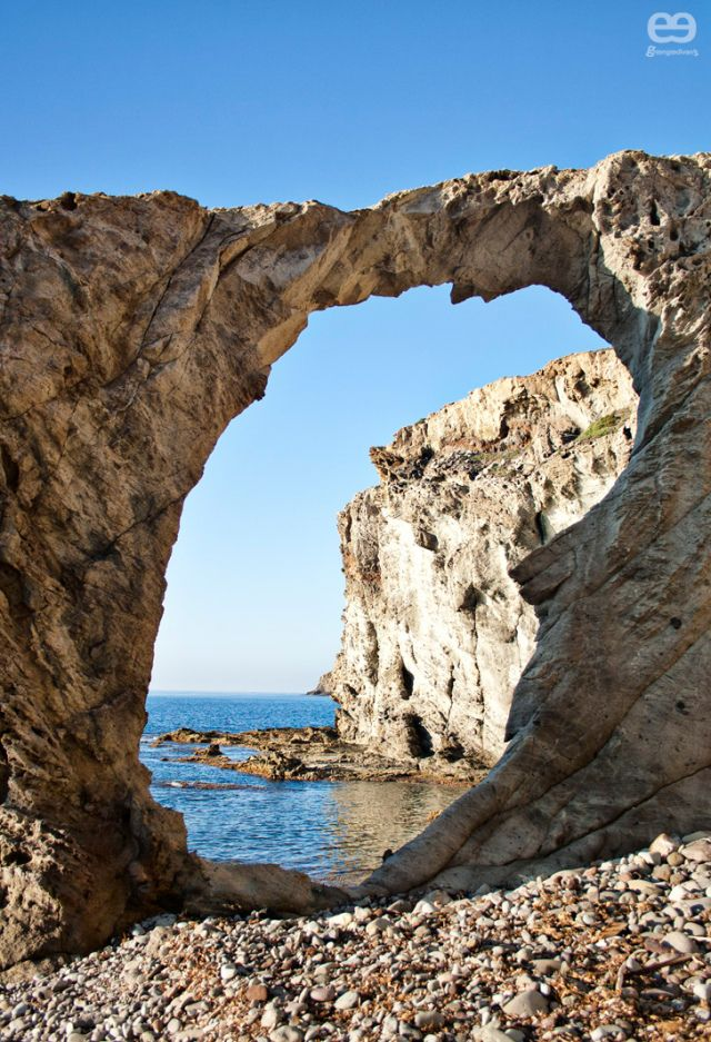 Natural Arch in Los Escullos - Cabo de Gata-Níjar Natutal Reserve - Prov. Almería - Andalucía, Spain.
