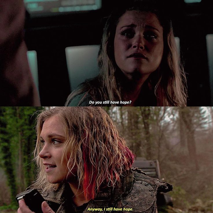 "#The100 4x03|4x13 - ""I still have hope."" - #ClarkeGriffin"