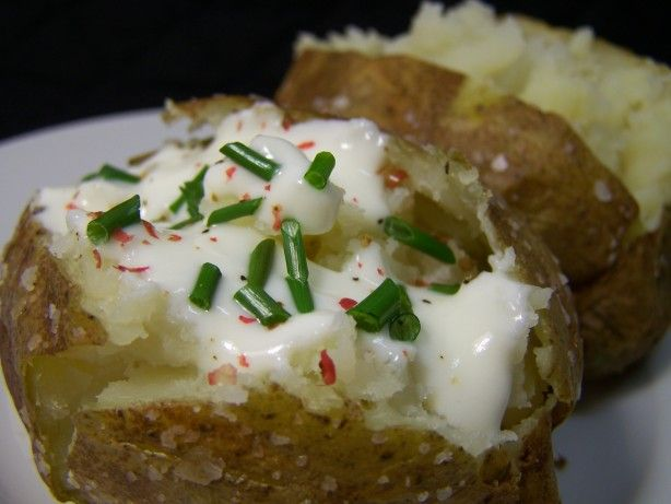 The 25 best baked potato microwave ideas on pinterest easy make and share this quick baked potatoes recipe from food ccuart Image collections