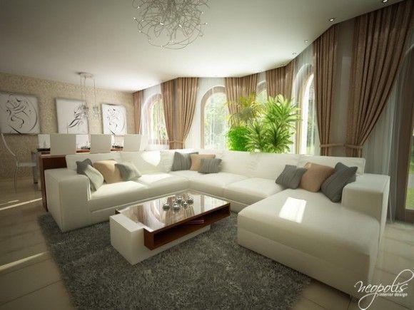 Luminosas y acogedoras Salas de Estar modernas para la primavera …