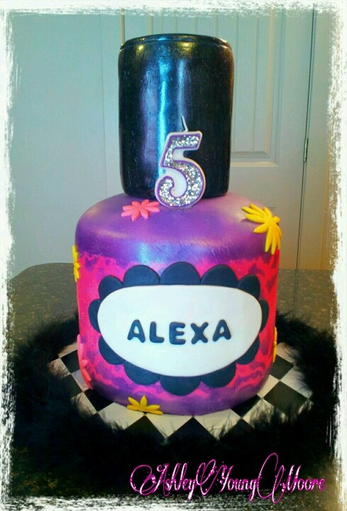 Alexa ★ Birthday Cake ★ 5 ★ Nail Polish ★ Girl's Night Out ★ Mani/Pedi Pamper Party