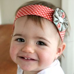 Make a quick and pretty embellished headband for a little girl using your fabric scraps.