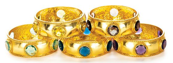 From bold colored gemstones to exotic necklaces and dramatic, gold bracelets, the Julie Vos Fall 2014 Jewelry Collection is affordable luxury at its best. Featuring semi-precious stones and 24k gold plating, this exquisite collection of dramatic, head-turning pieces offers something for everyone this season. #jewelry #style #shopping